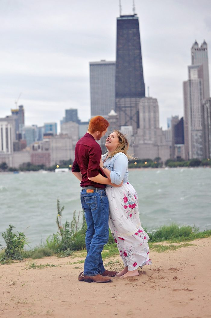Hailey and Michael's Engagement in North Avenue Beach, Chicago IL