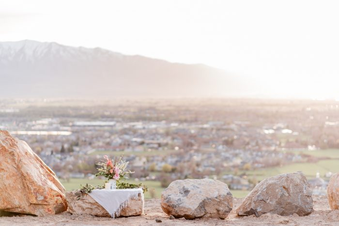 Engagement Proposal Ideas in Logan, Ut in an overlook where you could see the entire city