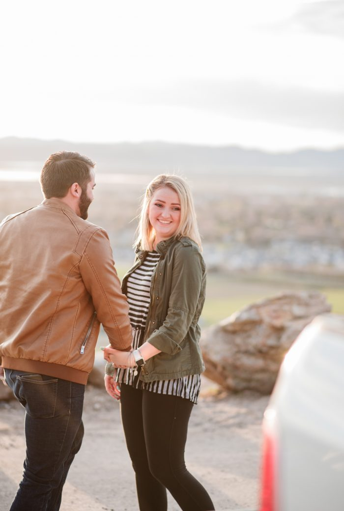 Marriage Proposal Ideas in Logan, Ut in an overlook where you could see the entire city