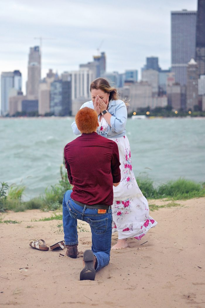 Hailey's Proposal in North Avenue Beach, Chicago IL