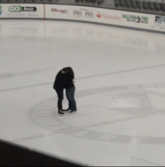 Lauren and Gregory's Engagement in Schneider Arena at Providence College