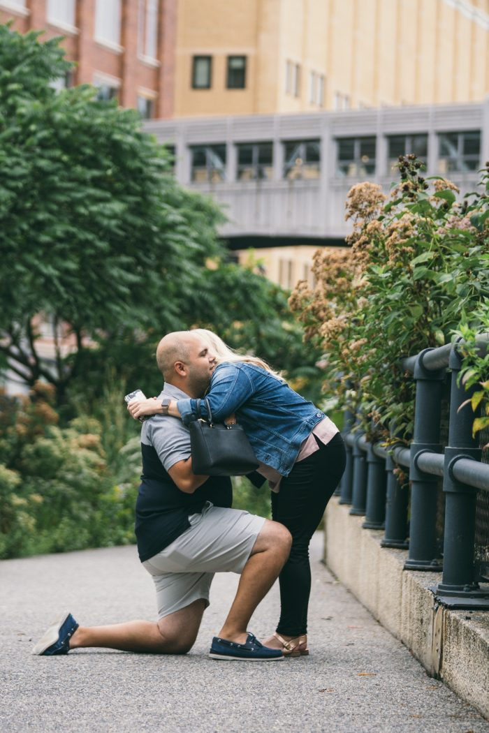Wedding Proposal Ideas in The High Line in NYC