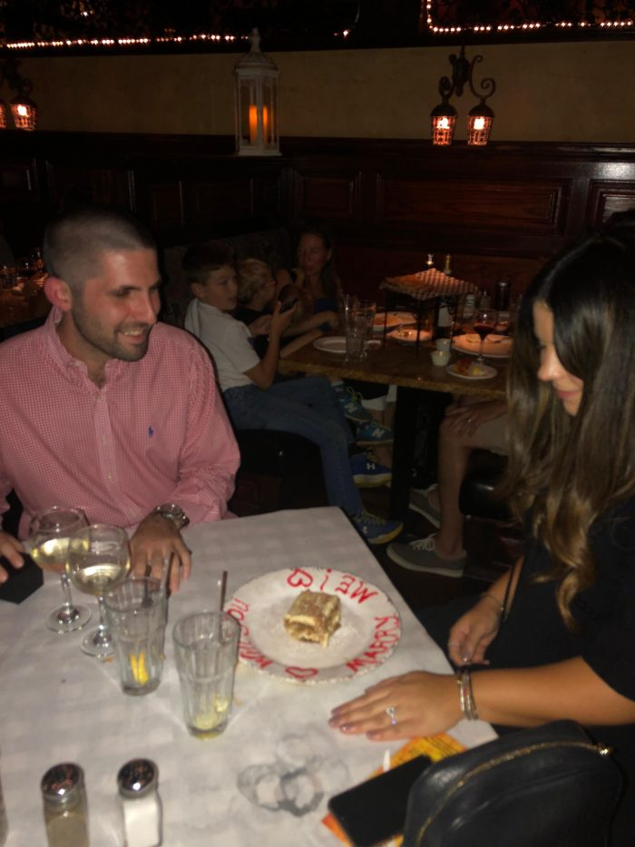 Wedding Proposal Ideas in Sanducci's Trattoria