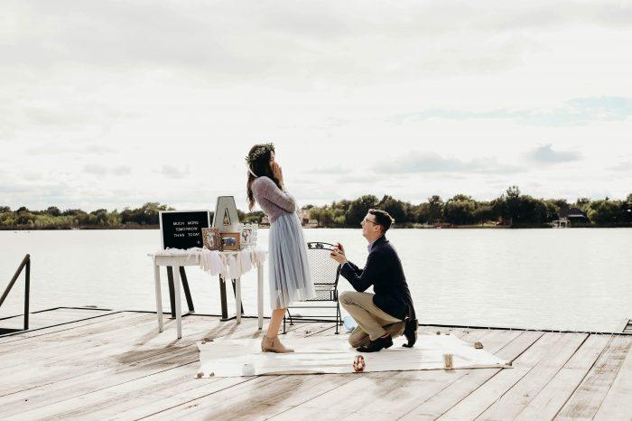 Proposal Ideas Abilene, Texas on a dock by the lake