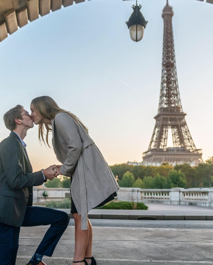 Madison and James's Engagement in Paris, France
