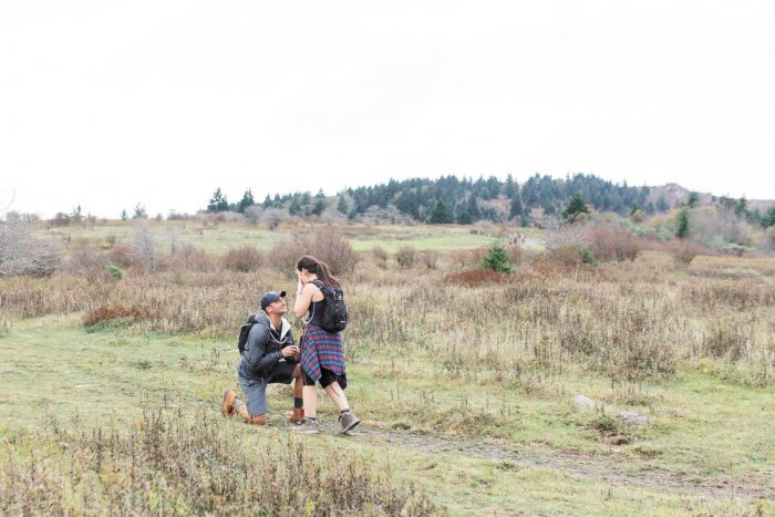 Christina and Anthony's Engagement in Grayson Highlands, Virginia