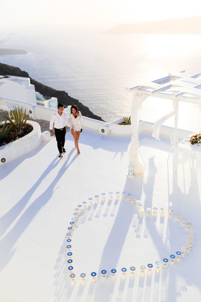 Marriage Proposal Ideas in Santorini, Greece