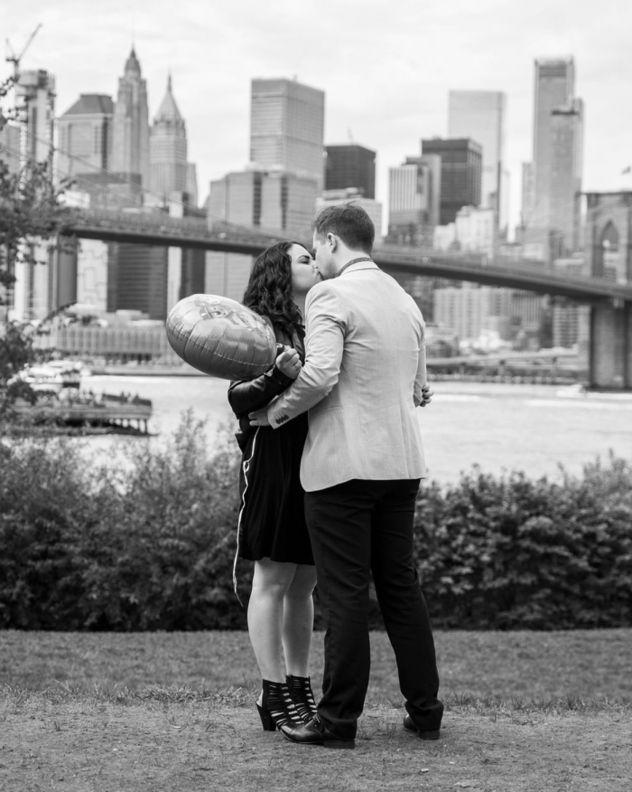 Jennifer and Bryan's Engagement in Dumbo Brooklyn