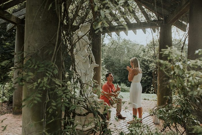 Engagement Proposal Ideas in The Biltmore Estate