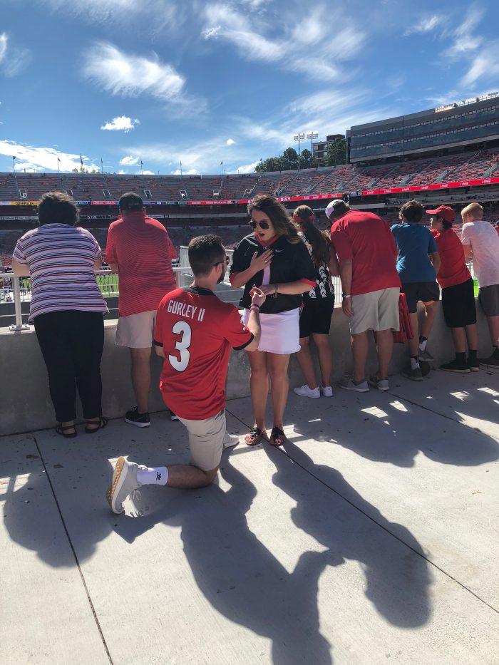Wedding Proposal Ideas in Sanford Stadium, Athens Ga