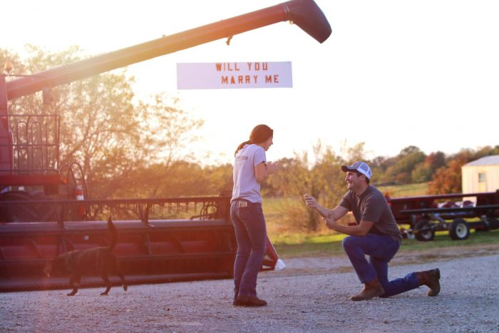 Marriage Proposal Ideas in On his family farm
