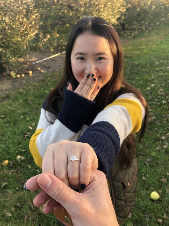 Andrew's Proposal in Lawrence Orchard Farm