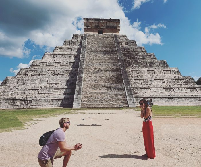 Marriage Proposal Ideas in Chichen Itza Pyramids