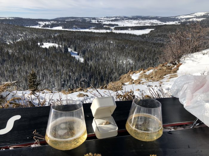 Where to Propose in On top of Baker Mountain, Steamboat Springs Colorado