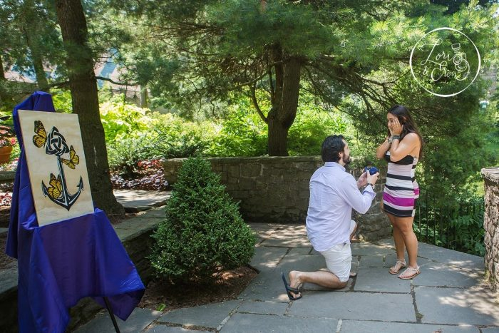 Nicolette and John Luke's Engagement in Sunken Gardens at Highland Park