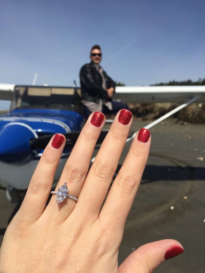 Marriage Proposal Ideas in Airplane / Copalis beach Washington