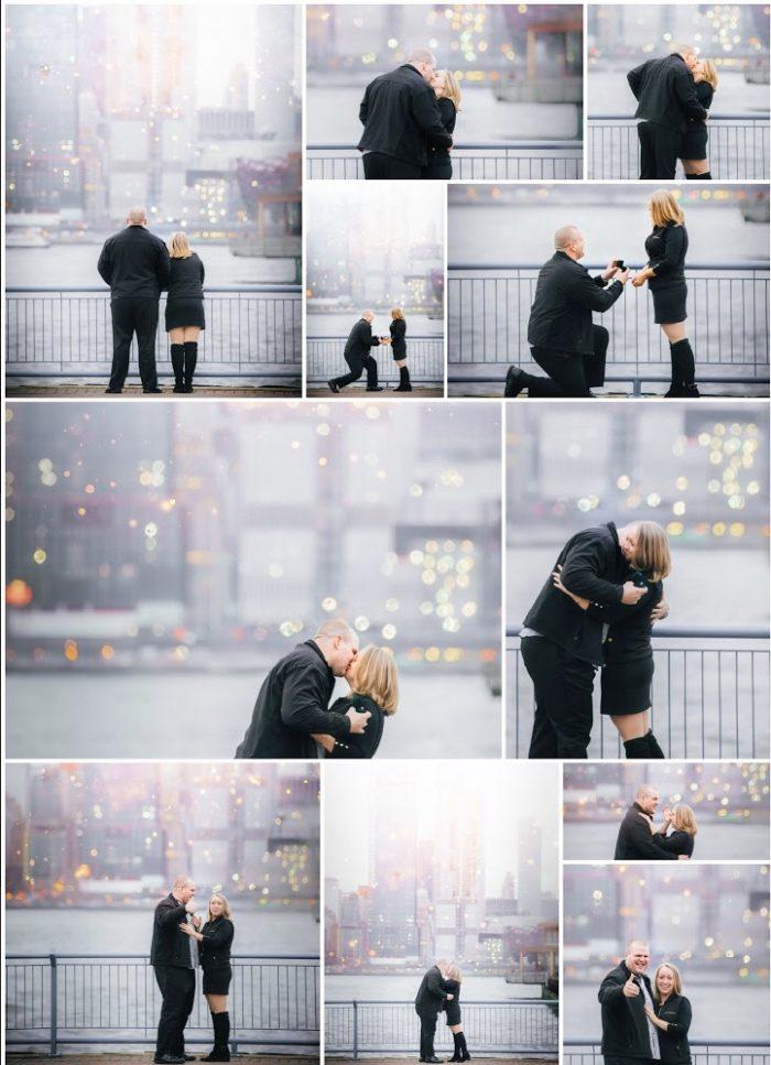 Marriage Proposal Ideas in Weehawken, NJ overlooking NYC