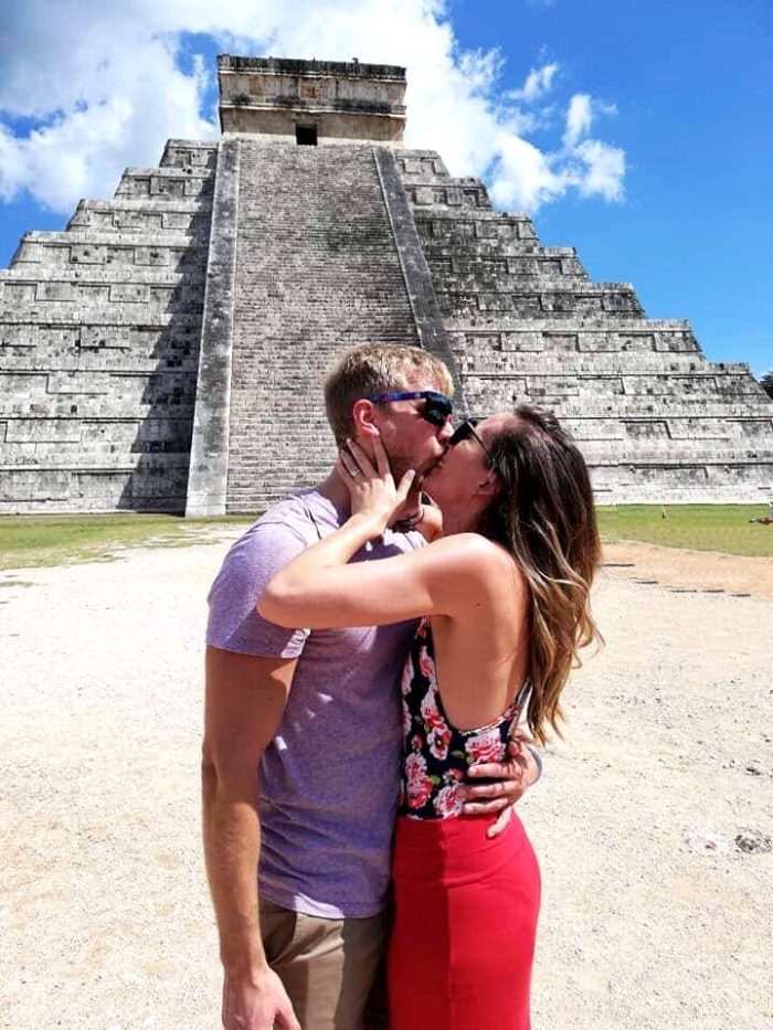 Kirsten's Proposal in Chichen Itza Pyramids