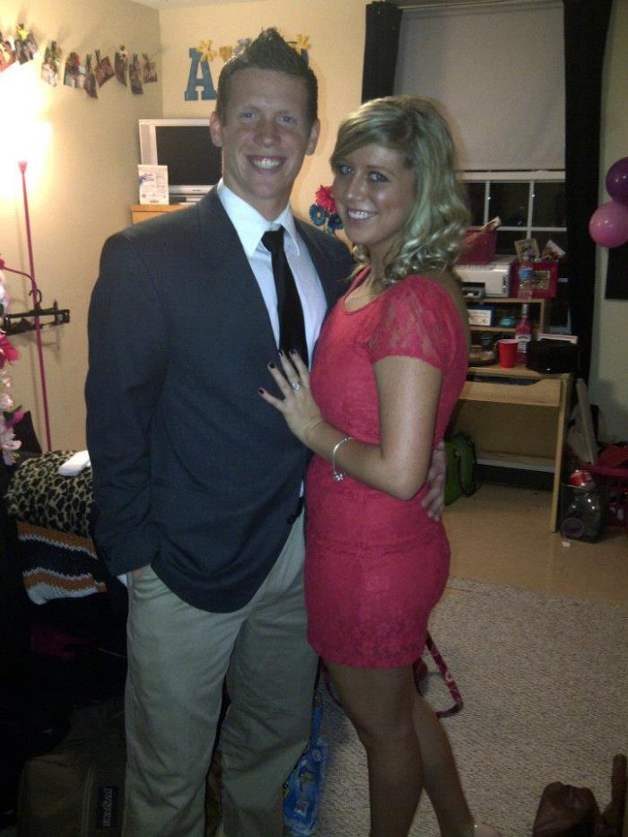 Shannon and Justin's Engagement in West Virginia Wesleyan College