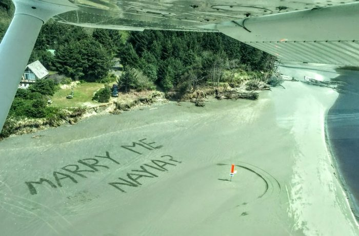 Nayia's Proposal in Airplane / Copalis beach Washington