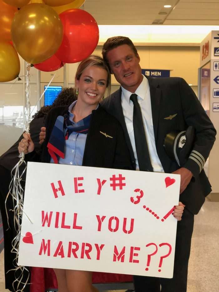Brianna's Proposal in Airport