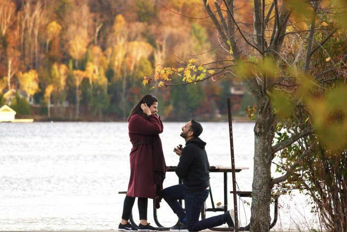 Wedding Proposal Ideas in Lake of Bays, Ontario, Canada