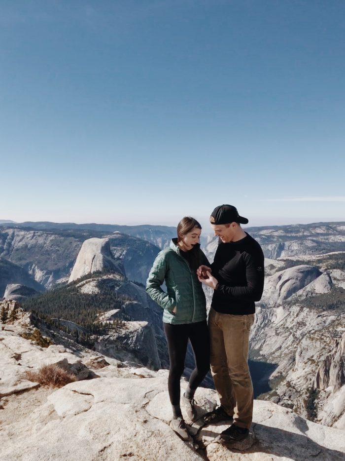 Allison and Daniel's Engagement in Clouds Rest, Yosemite National Park