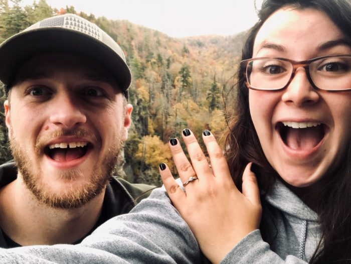 Proposal Ideas At a waterfall in the Blue Ridge Mountains, North Carolina