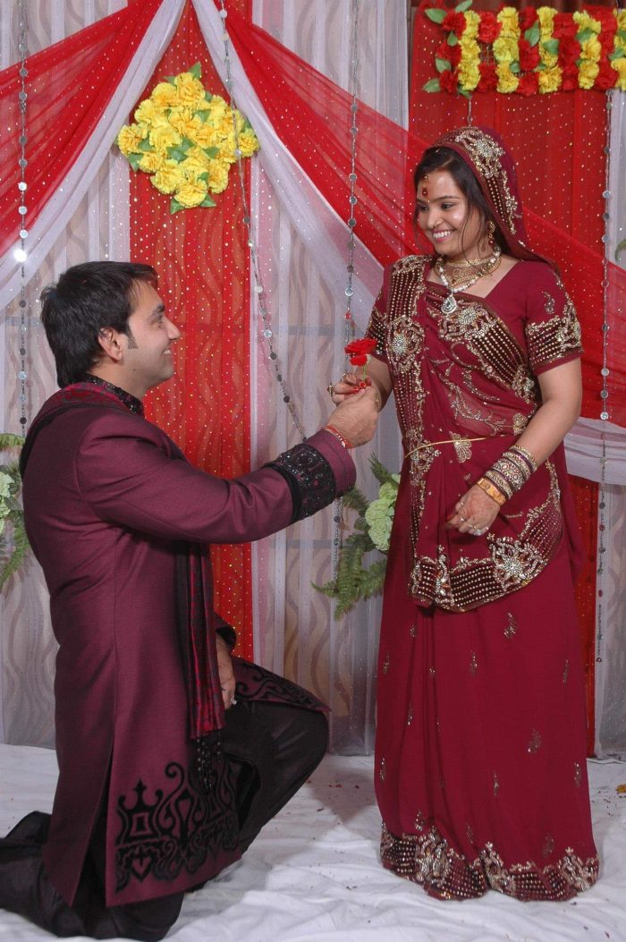Megha and Manmohan's Engagement in Outside of a mall
