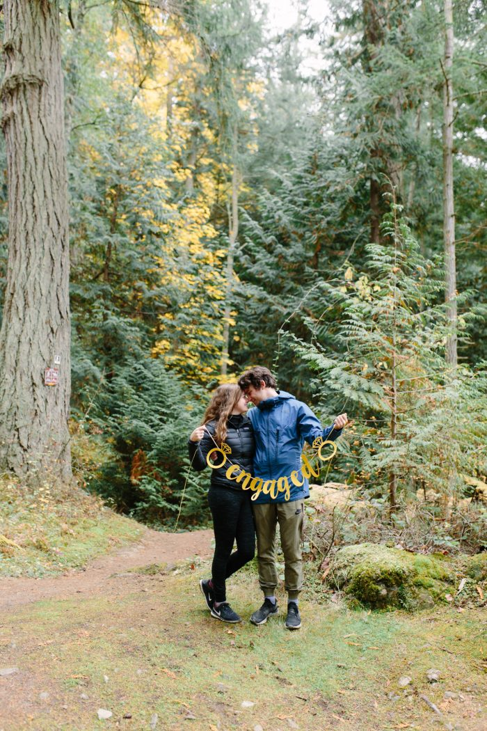 Lindsay's Proposal in Heart Lake, Anacortes, Washington