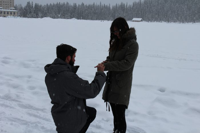 Marriage Proposal Ideas in Lake Louis, Alberta