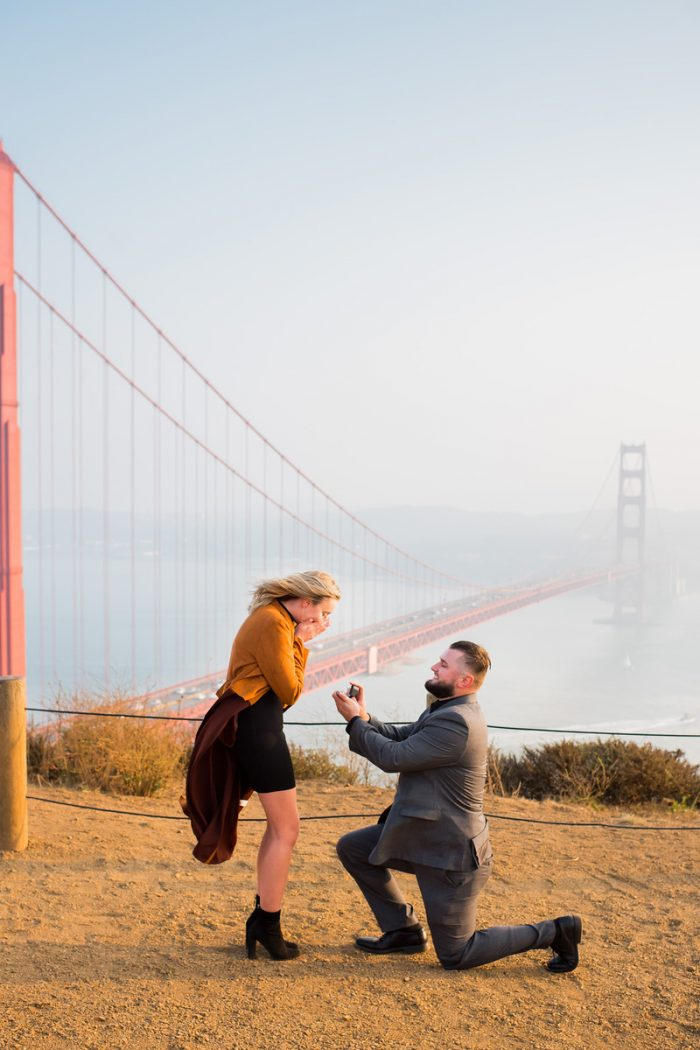 Marriage Proposal Ideas in Battery Spencer San Francisco, CA