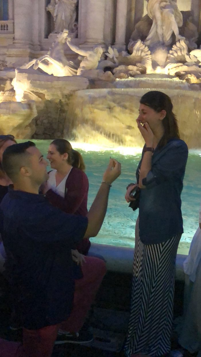 Daniella and John's Engagement in Trevi Fountain, Rome, Italy