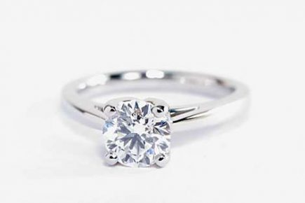 Monique Lhuillier cathedral solitaire ring by blue nile