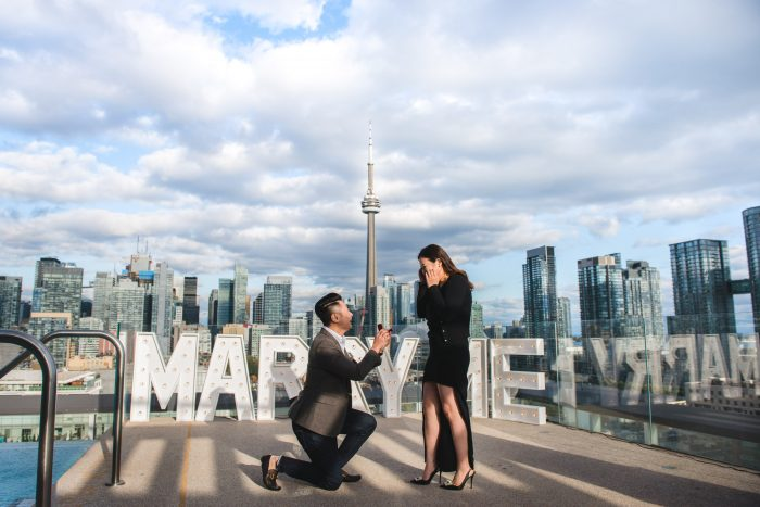 Marriage Proposal Ideas in Thompson Hotel (Rooftop) in Toronto