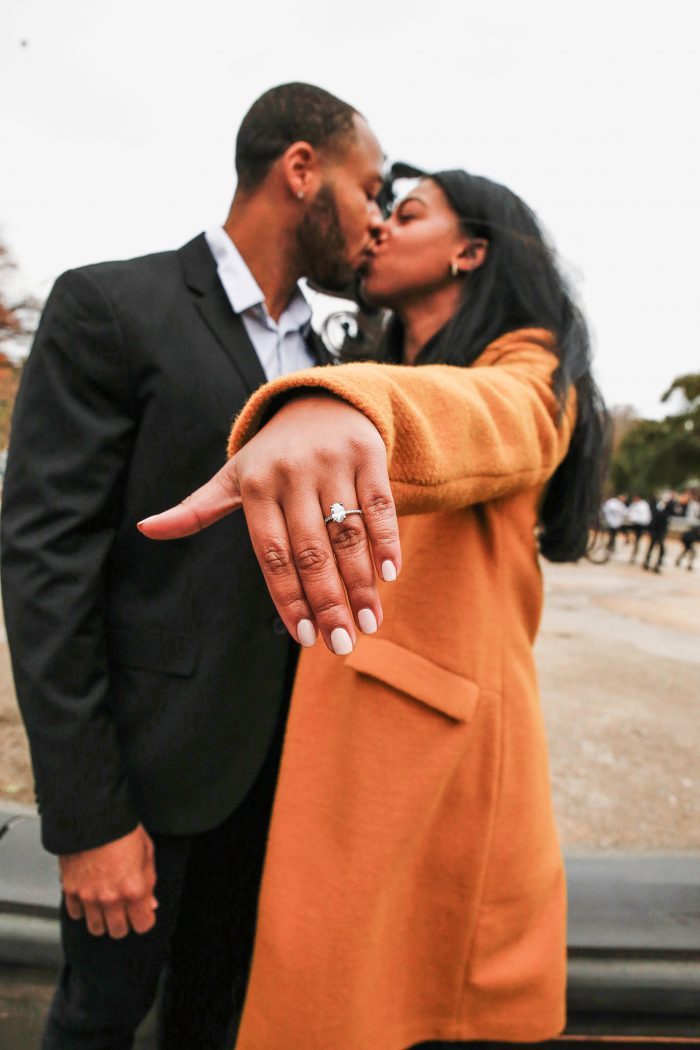Jasmine and Robert's Engagement in Central Park - Bethesda Fountain