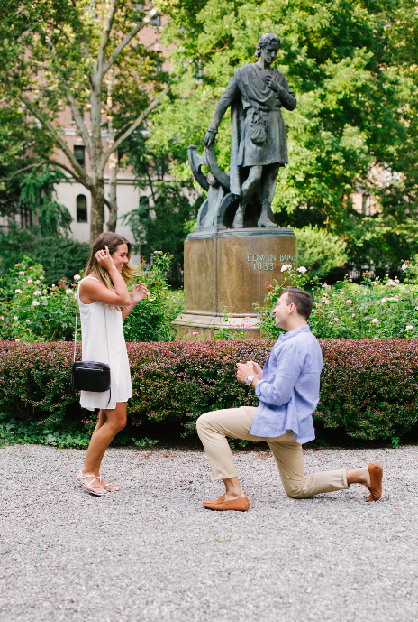 Danielle's Proposal in Gramercy Park, NYC