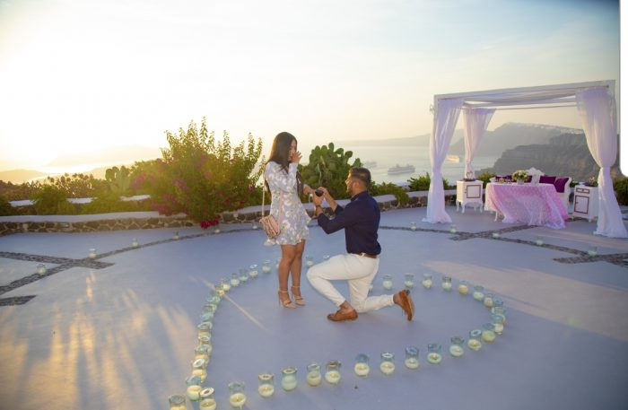 Anjalin and Rohit's Engagement in Santorini, Greece