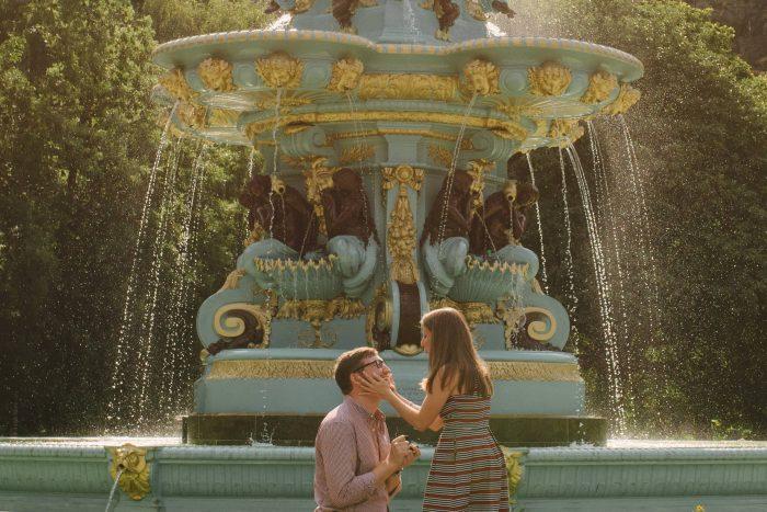 Marriage Proposal Ideas in Princes Street Gardens, Edinburgh, Scotland