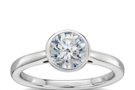 bezel set solitaire engagement ring by blue nile
