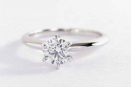 classic six-prong solitaire ring by blue nile