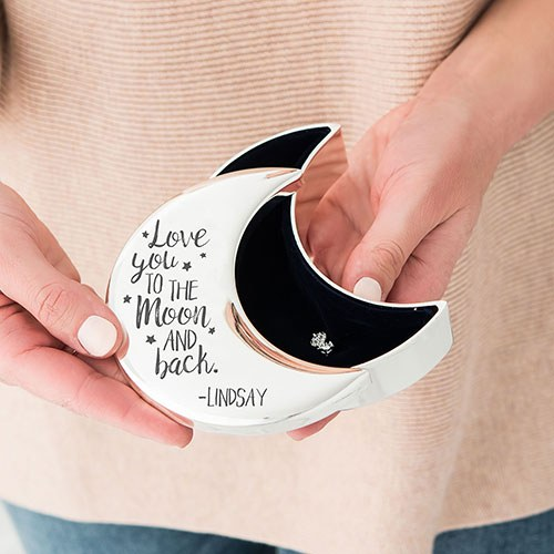 Love you to the moon and back ring box