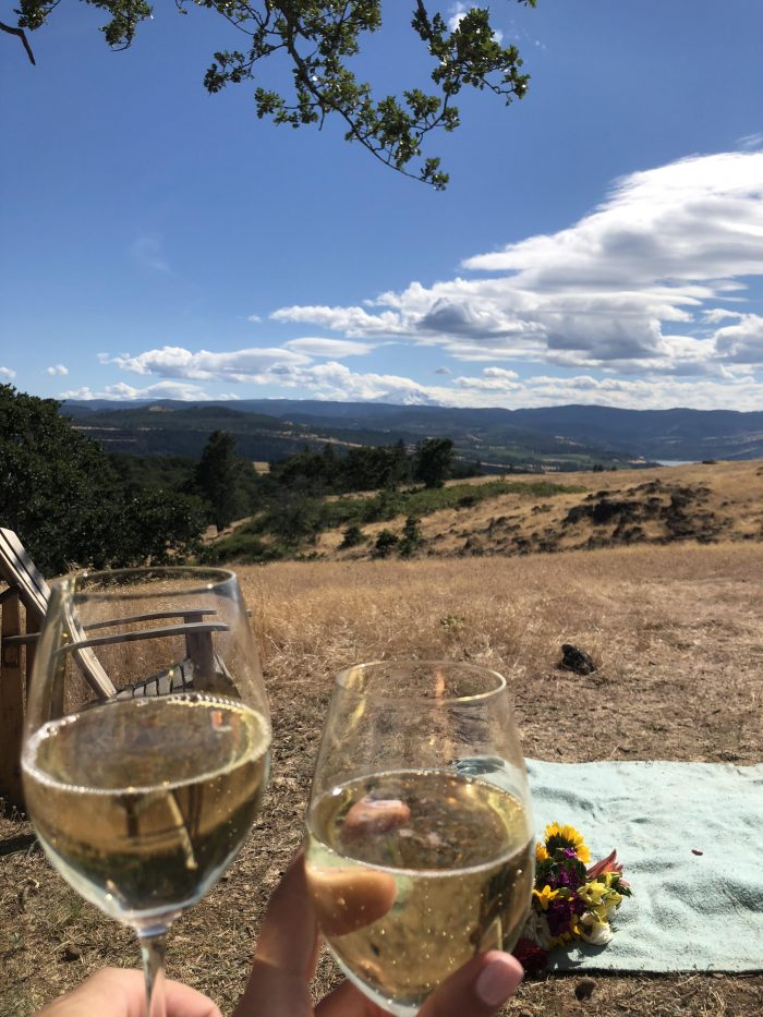 Brianne's Proposal in Syncline Winery