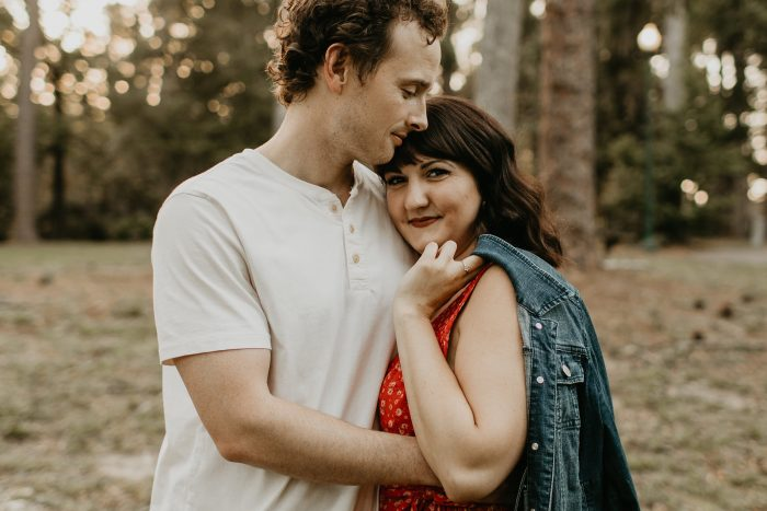 Jessica's Proposal in The backyard of a Historic Riverside home