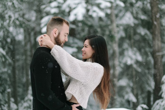 Wedding Proposal Ideas in Vancouver Christmas Market