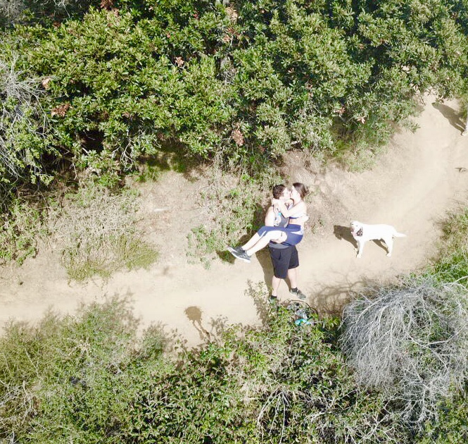 Wedding Proposal Ideas in Pacific palisades park- a hiking trail in Los Angeles