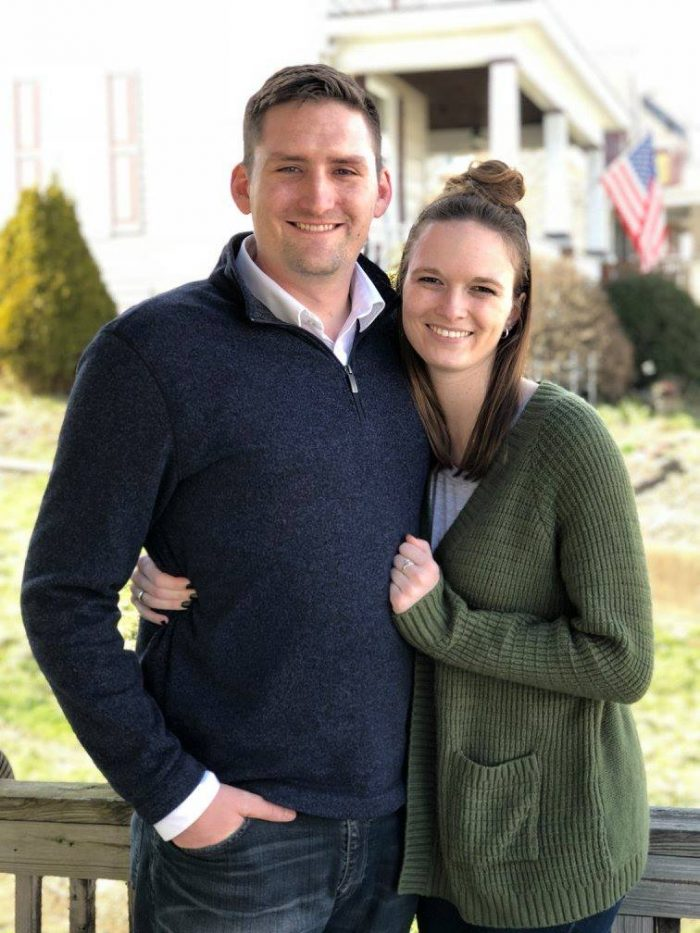 Amy and Ryan's Engagement in Our new home in Mars, Pennsylvania