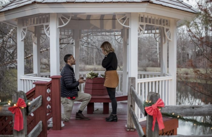 Abigail and Logan's Engagement in Zionsville Indiana