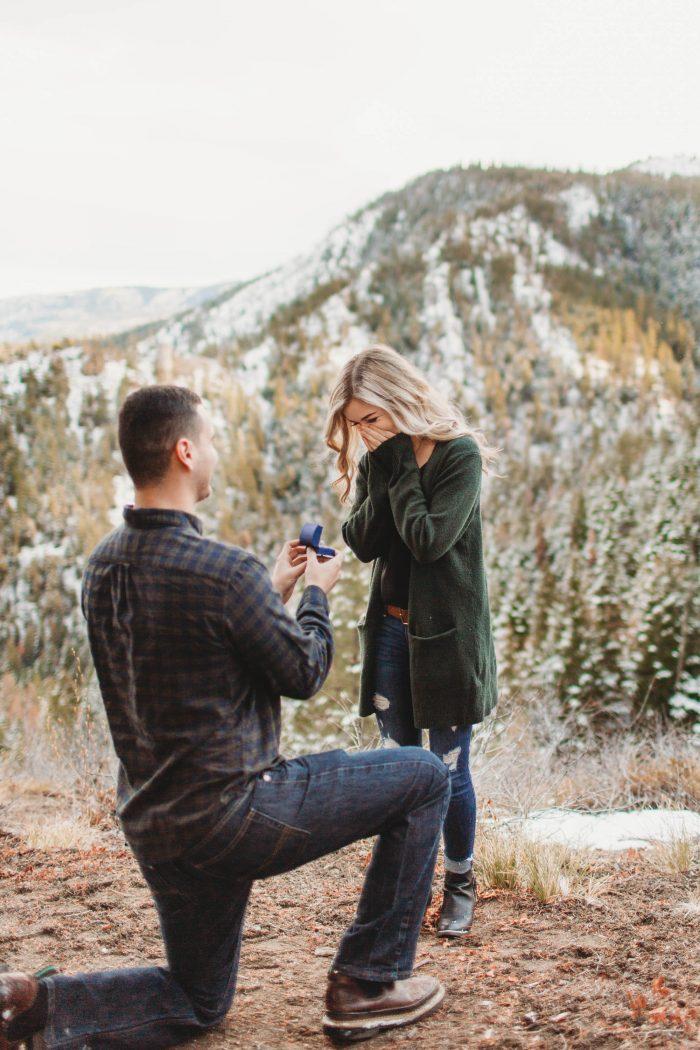 Carly's Proposal in Devil's Spur Trailhead, Wenatchee WA