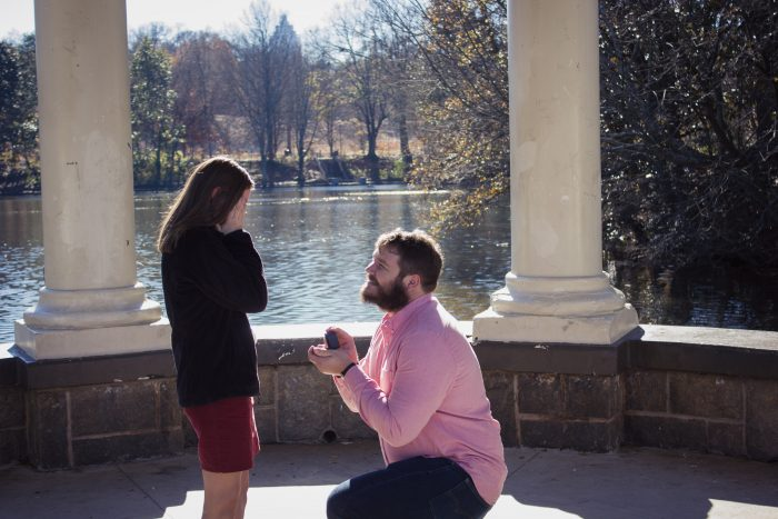 Engagement Proposal Ideas in Piedmont Park